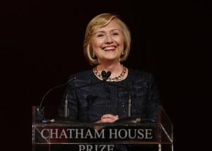 Hillary Rodham Clinton at Chatam House Photo/Lefteris Pitarakis
