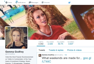 Gemma Godfrey, Directrice de la stratégie chez Brooks Macdonald et reine du tweet financier