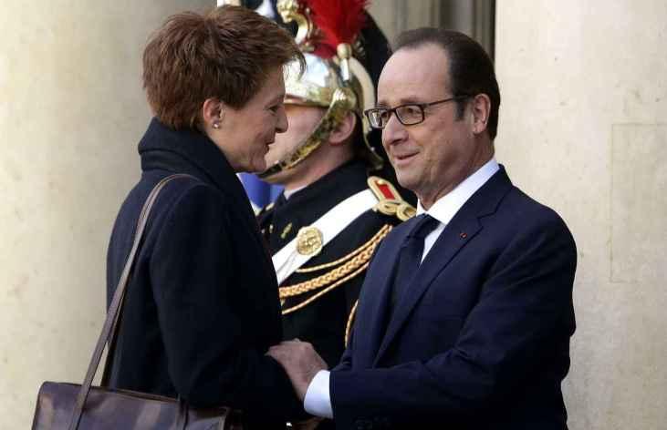 Simonetta Sommaruga et François Hollande